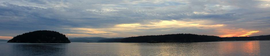 San Juan Islands at dusk