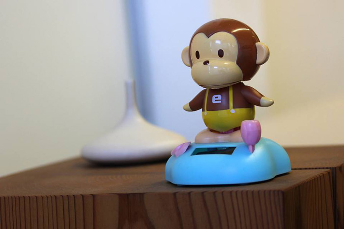 Solar powered toy monkey