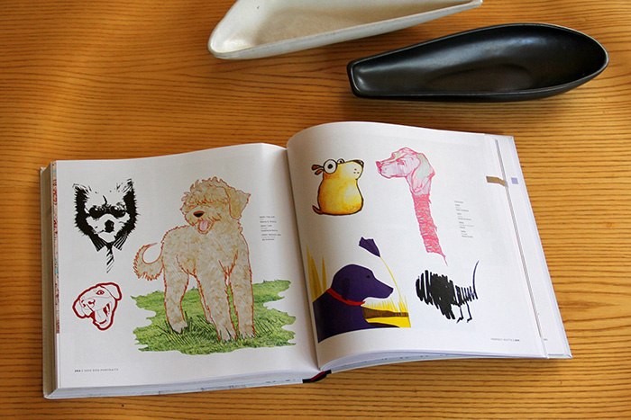 Spread of dog illustrations