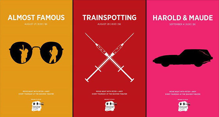 Triptic of upcoming film posters