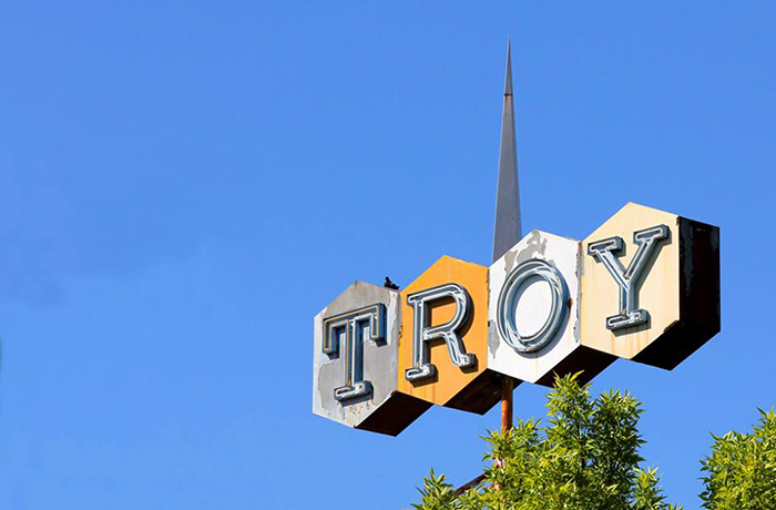 History Troy sign