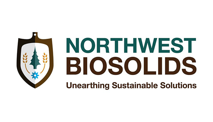 Northwest Biosolids logo of a spade and plants
